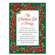 Personalized My Christmas List Christmas Card Set Of 20, One Size