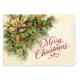 Personalized Christmas Greenery Christmas Card Set Of 20, One Size