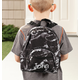 Personalized Mini Black Marble Backpack, One Size