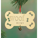 Personalized Woof Brass Ornament, One Size