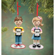 Personalized Child With Tablet Ornament, One Size