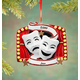 Personalized Theater Mask Ornament, One Size