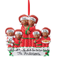 Personalized Darker Skintone Family In Pajamas Ornament, One Size