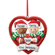 Personalized Biracial Couple Ornament, One Size