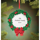 Personalized Christmas Wreath Ornament No Personalization, One Size