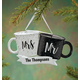 Personalized Mr. And Mrs. Coffee Mugs Ornament, One Size