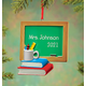 Personalized Chalkboard And Books Ornament, One Size