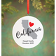 Personalized State Love Ornament, One Size