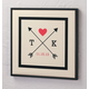 Framed Love Arrows Canvas, One Size, Black
