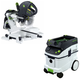 Festool P36561287 Kapex Sliding Compound Miter Saw with CT 36 E 9.5 Gallon HEPA Dust Extractor