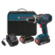 Bosch HDS181-02 18V Cordless Lithium-Ion Compact Tough 1/2 in. Hammer Drill Driver with 2 Slim Pack HC Batteries