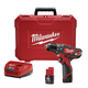 Milwaukee 2408-22 M12 Lithium-Ion 3/8 in. Cordless Hammer Drill Driver Kit (1.5 Ah)