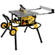 Dewalt DWE7491RS 10 in. 15 Amp 120V Site-Pro Compact Jobsite Table Saw with Rolling Stand