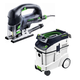 Festool P48561608 Carvex D-Handle Jigsaw with CT 48 E 12.7 Gallon HEPA Dust Extractor