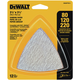 Dewalt DWASPTRI3 Assorted Hook and Loop Triangle Sandpaper - (12-Pack)