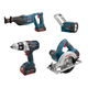 Factory Reconditioned Bosch CLPK401-181-RT 18V Cordless Lithium-Ion 4-Tool Combo Kit