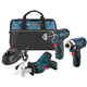 Factory Reconditioned Bosch CLPK32-120LP-RT 12V Max Cordless Lithium-Ion 3-Tool Combo Kit