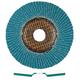 Metabo 656391000-10 7 in. ZA80 Type 29 Zirconia Alumina Flap Discs (10-Pack)