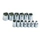 SK Hand Tool 1313 13-Piece 1/4 in. Drive 6-Point Standard Metric Socket Set