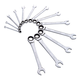 Sunex Tools 9922 13-Piece SAE V-Groove Ratcheting Combination Wrench Set