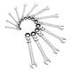 Sunex 9931 13-Piece SAE V-Groove Flex Head Ratcheting Combination Wrench Set