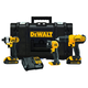 Dewalt DCKTS340C2 20V MAX 1.3 Ah Cordless Lithium-Ion 3-Tool Combo Kit with ToughtSystem Case