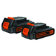 Black & Decker LBXR20B-2 20V Max 1.3 Ah Slide Lithium-Ion Battery (2-Pack)