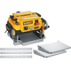 Dewalt DW735X 13 in. 120V Two-Speed Thickness Planer with Support Tables and Extra Knives