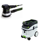 Festool P36571903 6 in. Random Orbital Finish Sander with CT 36 E 9.5 Gallon HEPA Dust Extractor