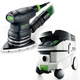 Festool P26567871 Delta Orbital Finish Sander with CT 26 E 6.9 Gallon HEPA Mobile Dust Extractor