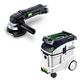Festool P48570789 4-1/2 in. Rotary Sander with CT 48 E 12.7 Gallon HEPA Dust Extractor