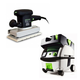 Festool PN567696 Orbital Finish Sander with CT MINI HEPA 2.6 Gallon Mobile Dust Extractor