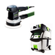 Festool PI571916 6 in. Random Orbital Finish Sander with CT MIDI HEPA 3.3 Gallon Mobile Dust Extractor