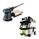 Festool PN571817 5 in. Random Orbital Finish Sander with CT MINI HEPA 2.6 Gallon Mobile Dust Extractor