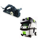 Festool PN574553 Planer with CT MINI HEPA 2.6 Gallon Mobile Dust Extractor
