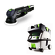 Festool PN571782 Rotex 5 in. Multi-Mode Sander with CT MINI HEPA 2.6 Gallon Mobile Dust Extractor