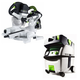 Festool PI561287 Kapex Sliding Compound Miter Saw with CT MIDI HEPA 3.3 Gallon Mobile Dust Extractor