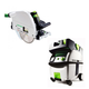 Festool PI561438 Plunge Cut Circular Saw with CT MIDI HEPA 3.3 Gallon Mobile Dust Extractor