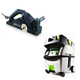 Festool PI574553 Planer with CT MIDI HEPA 3.3 Gallon Mobile Dust Extractor