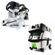 Festool PN561287 Kapex Sliding Compound Miter Saw with CT MINI HEPA 2.6 Gallon Mobile Dust Extractor