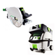 Festool PN561438 Plunge Cut Circular Saw with CT MINI HEPA 2.6 Gallon Mobile Dust Extractor