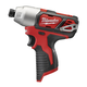 Factory Reconditioned Milwaukee 2462-80 M12 12V Cordless Lithium-Ion 1/4 in. Hex Impact Driver (Bare Tool)