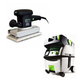 Festool PI567696 Orbital Finish Sander with CT MIDI HEPA 3.3 Gallon Mobile Dust Extractor