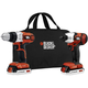 Black & Decker BDCD220IA 20V MAX Cordless Lithium-Ion 3/8 in. Drill Driver & Impact Driver Combo Kit with 2 Battery Packs