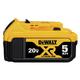 Dewalt DCB205 20V MAX 5.0 Ah XR Premium Lithium-Ion Battery