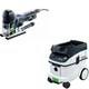 Festool PAC561593 Carvex Barrel Grip Jigsaw with CT 36 AC 9.5 Gallon Mobile Dust Extractor