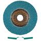 Metabo 656396000-10 7 in. ZA60 Type 29 Zirconia Alumina High Density Flap Discs (10-Pack)