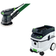 Festool PAC571817 5 in. Random Orbital Finish Sander with CT 36 AC 9.5 Gallon Mobile Dust Extractor