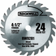 Rockwell RW9281 4-1/2 in. 24T Carbide Tipped Compact Circular Saw Blade
