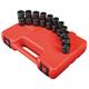 Sunex 3657 10-Piece 3/8 in. Drive Metric Universal Impact Socket Set